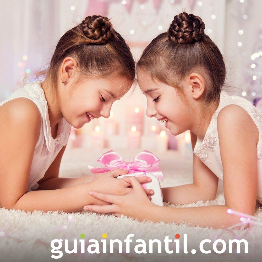 Moños trenzados para niñas en Navidad