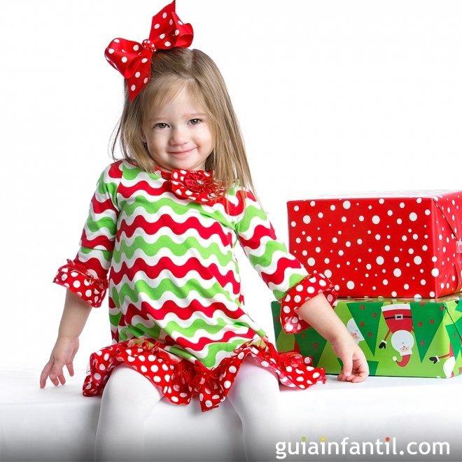 Recogido con lazo para niñas en Navidad