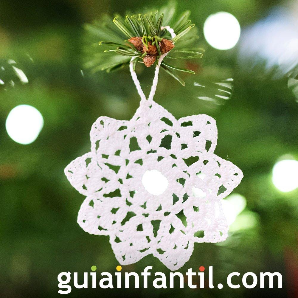 Estrella navideña en crochet