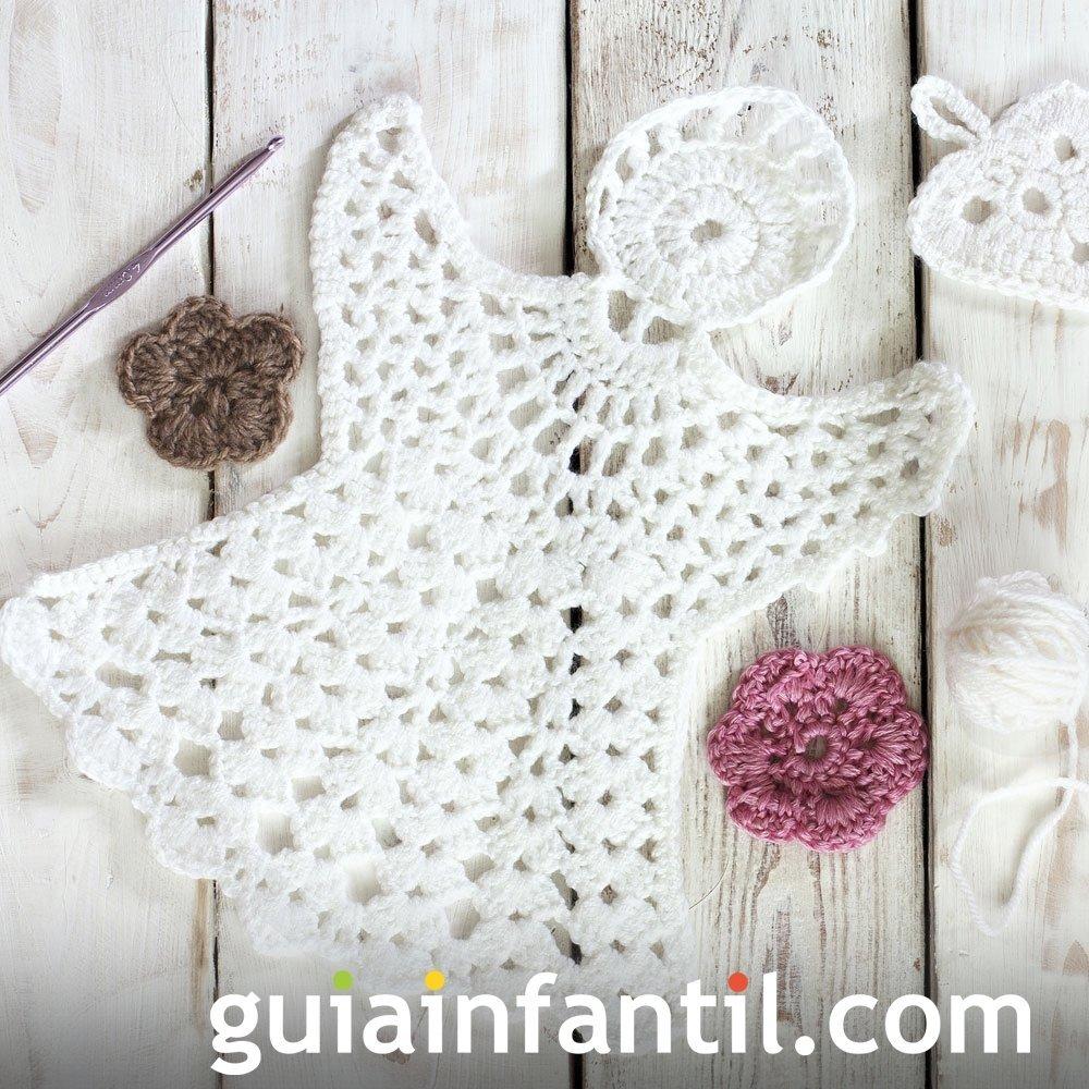 Ángel navideño en crochet