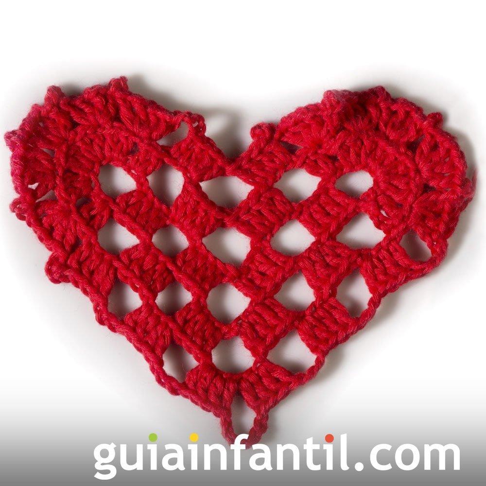 Corazón en crochet