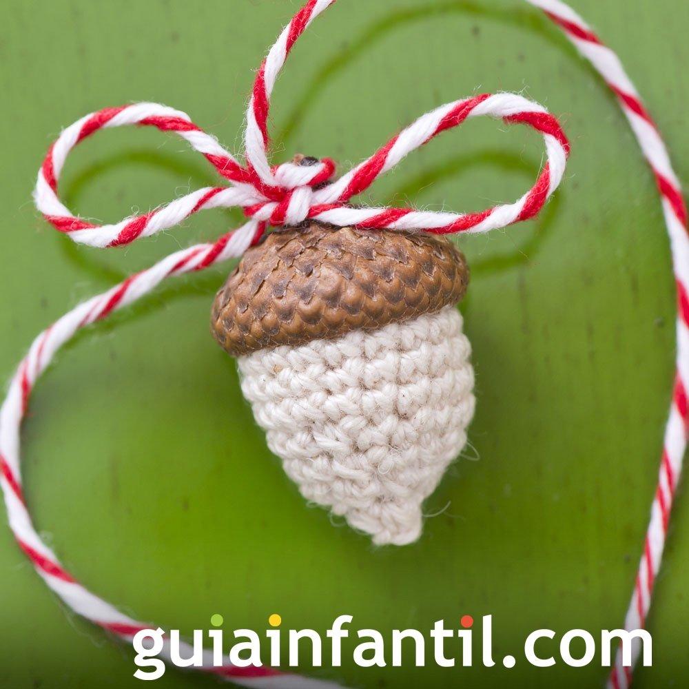 Castañas navideñas en crochet