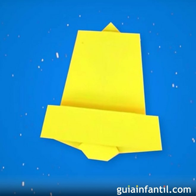 Campanas de Navidad en origami
