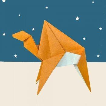 Un camello de Reyes Magos en Origami