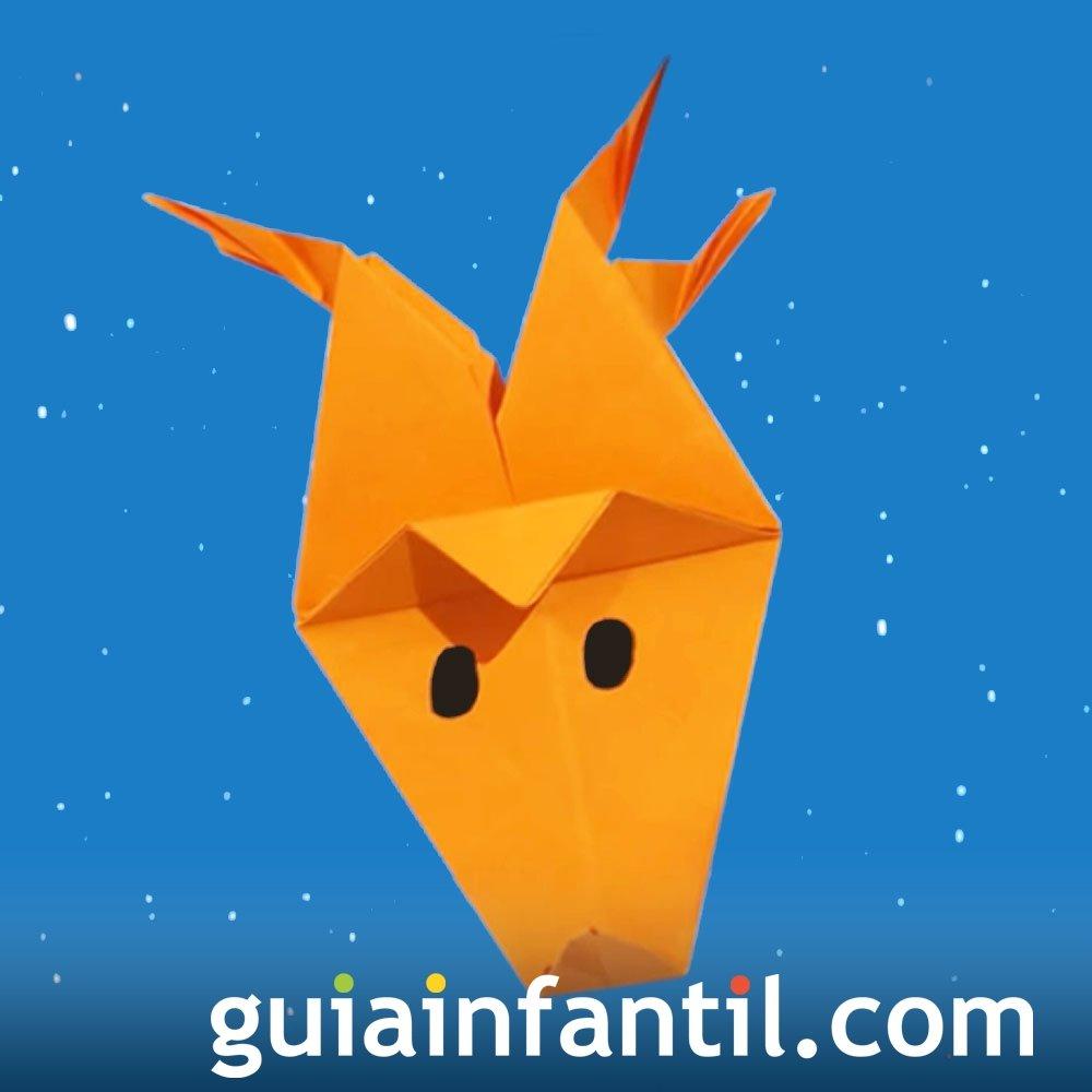 Reno de Navidad en origami