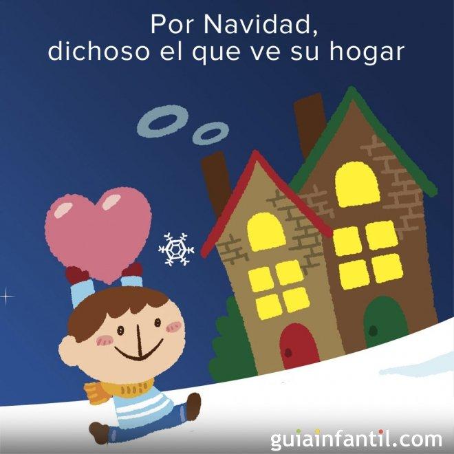 Volver a casa por Navidad. Refrán navideño