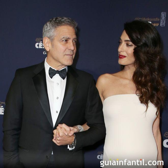 Los gemelos Clooney se llaman Ella y Alexander