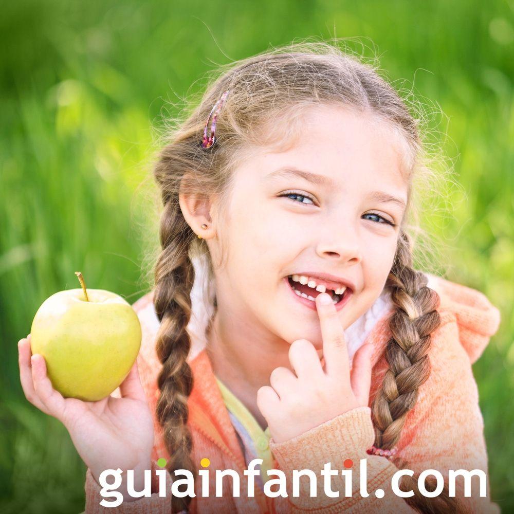 La caída y salida de los dientes en los niños