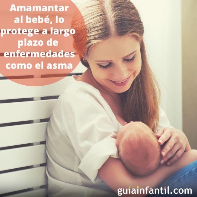 3. Amamantar al bebé, lo protege a largo plazo contra enfermedades