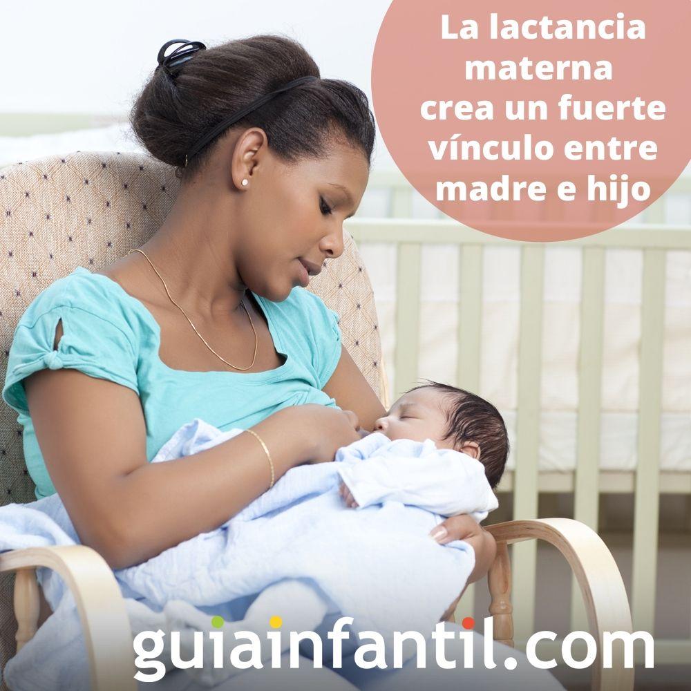 8. La lactancia materna crea un fuerte vínculo entre madre e hijo