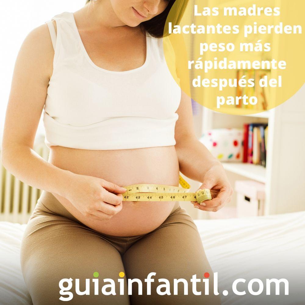 9. Las madres lactantes pierden peso más rápidamente después del parto