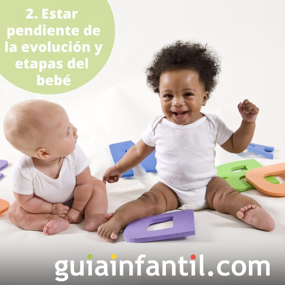 2. Estar pendiente de la evolución y etapas del bebé