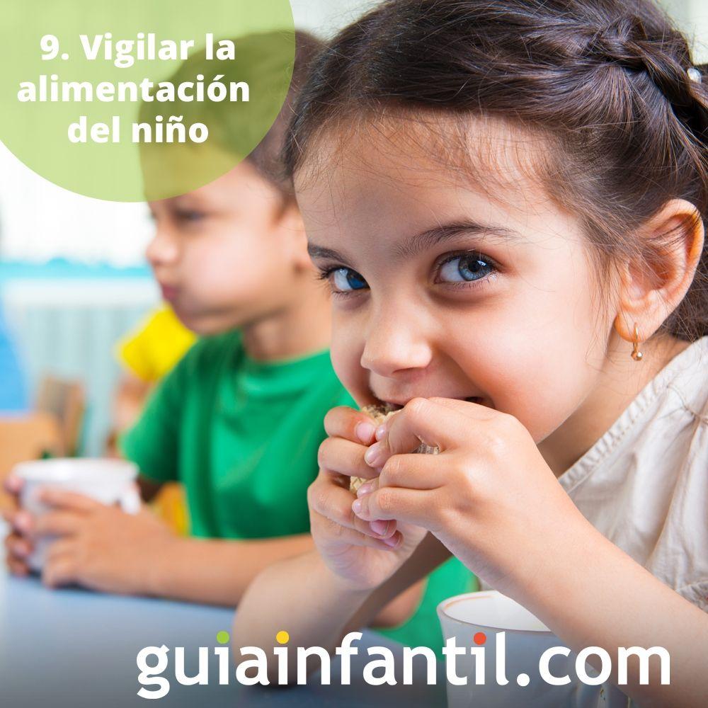 9. Vigilar la alimentación del niño