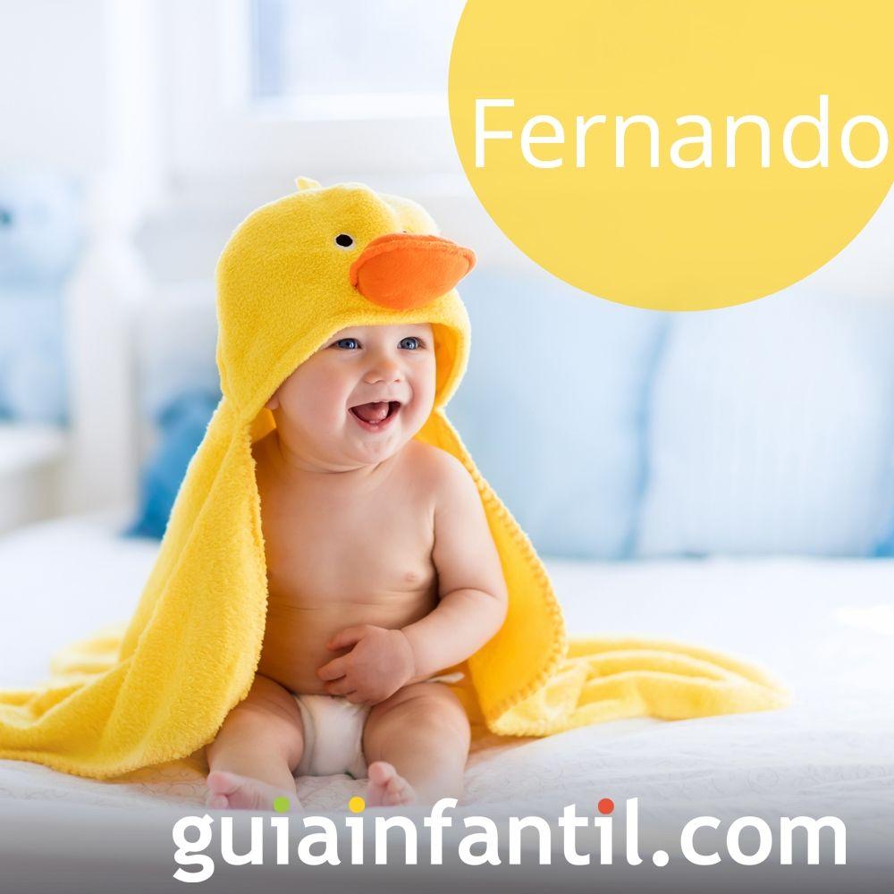 Nombres de niño bonitos para el 2018. Fernando