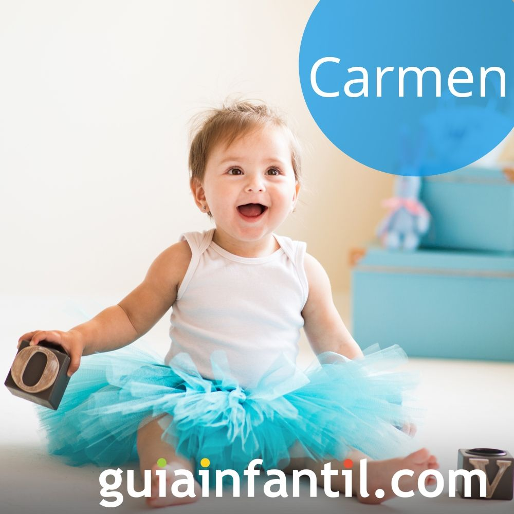 Nombres de niña bonitos para el 2018. Carmen