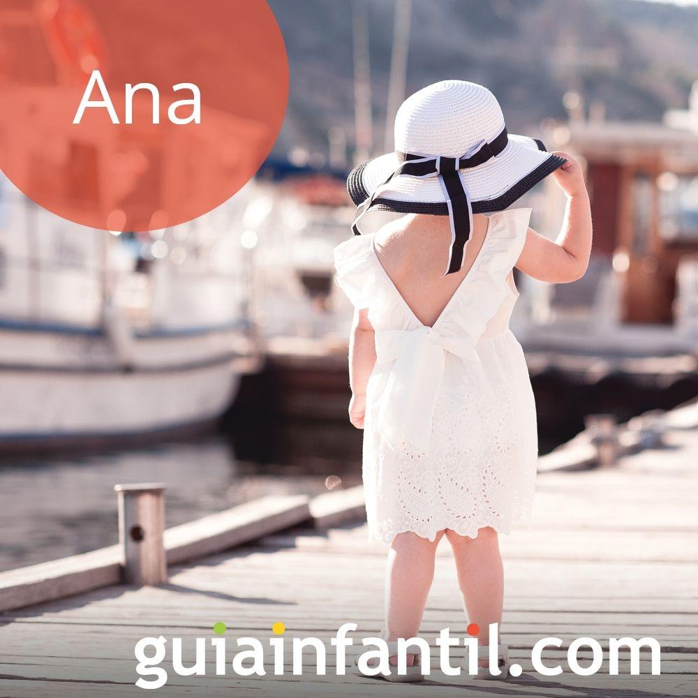 Ana, un nombre de niña bonito para 2018