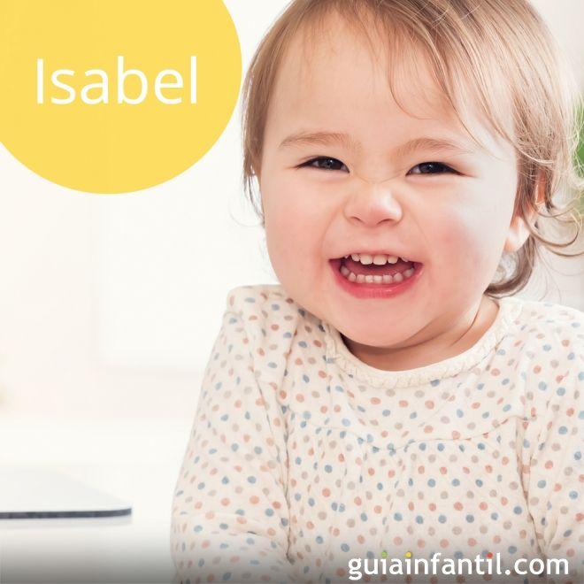 Isabel: nombres para niña de tendencia para 2018