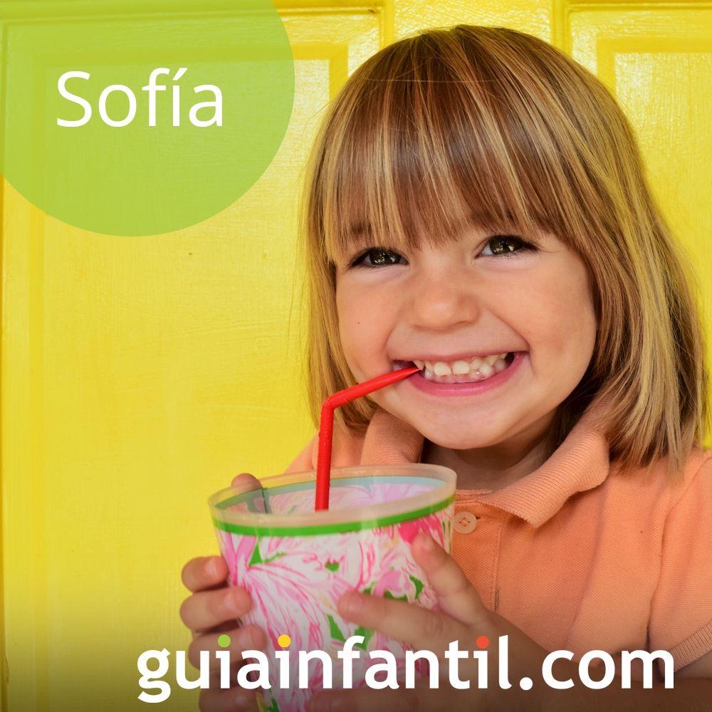 Nombres de niña bonitos para el 2018. Sofía