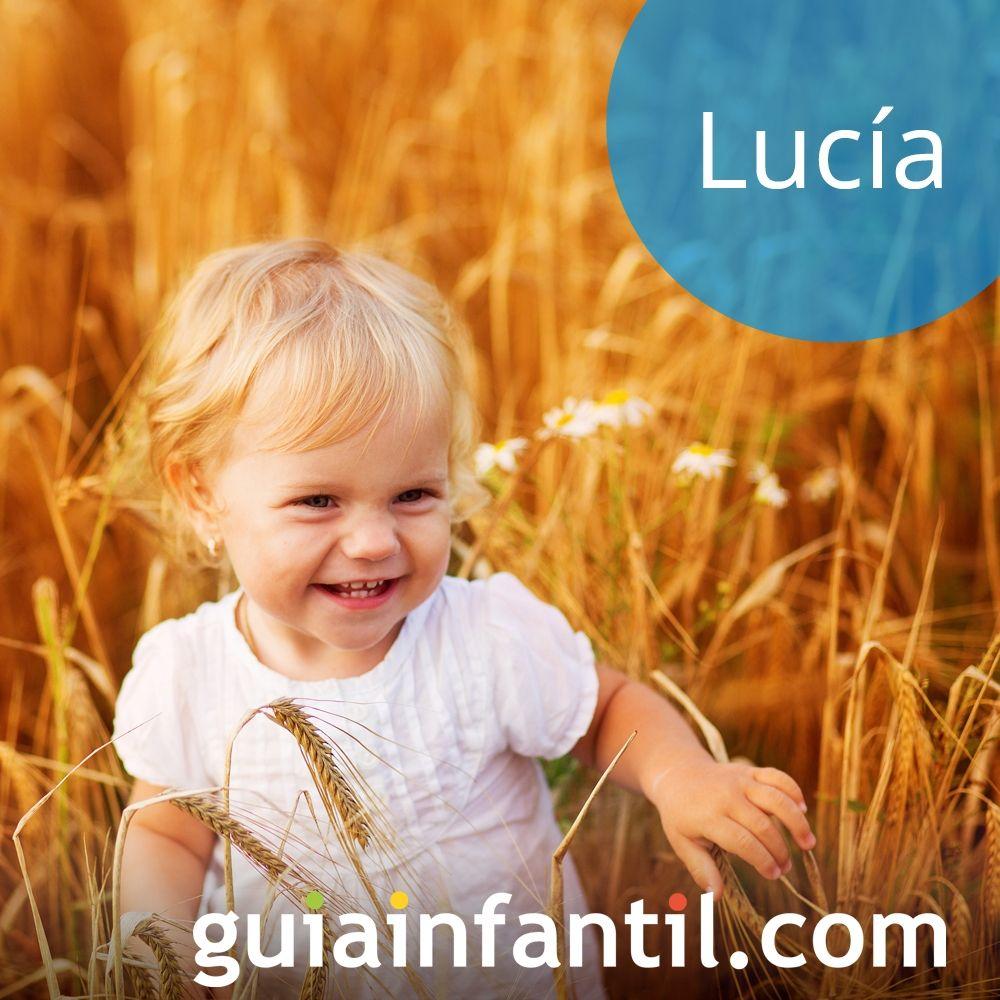 Propuestas de nombres de niña bonitos para 2018: Lucía