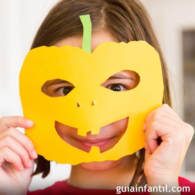 Máscara de calabaza para niños