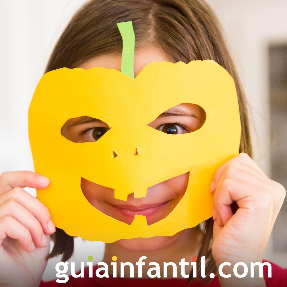 Mascara De Calabaza Para Ninos