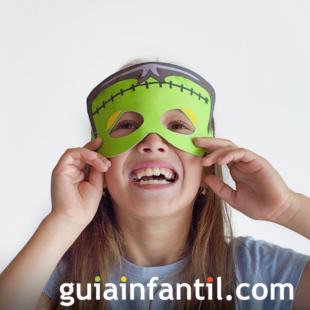 Máscara de Frankenstein para disfrazara a los niños