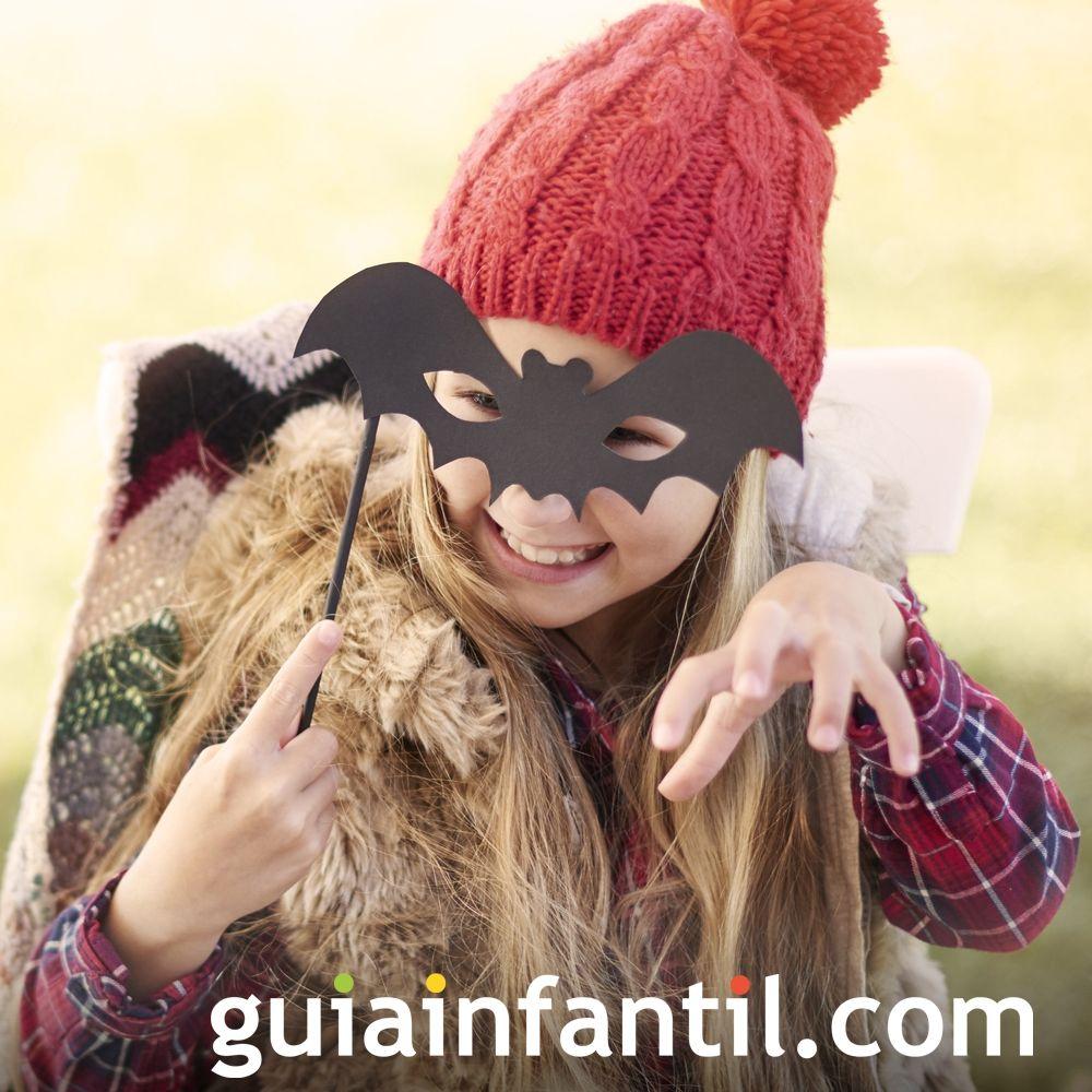 Máscara de murciélago para niños