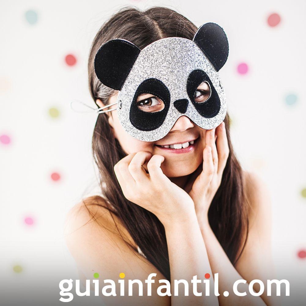 Máscara de Halloween para niños de oso panda