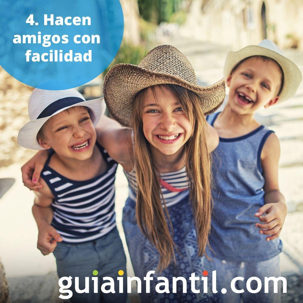 4. Los niños hacen amigos con facilidad