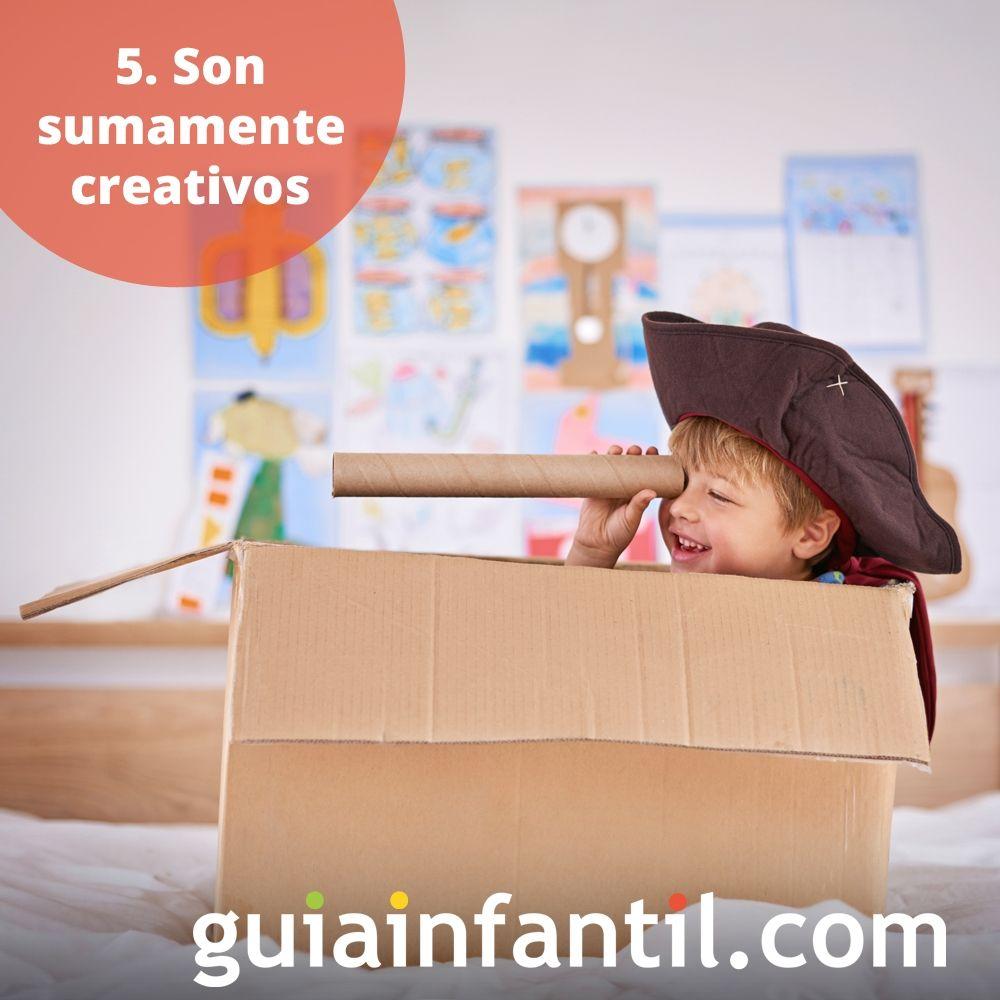 5. Los niños son sumamente creativos
