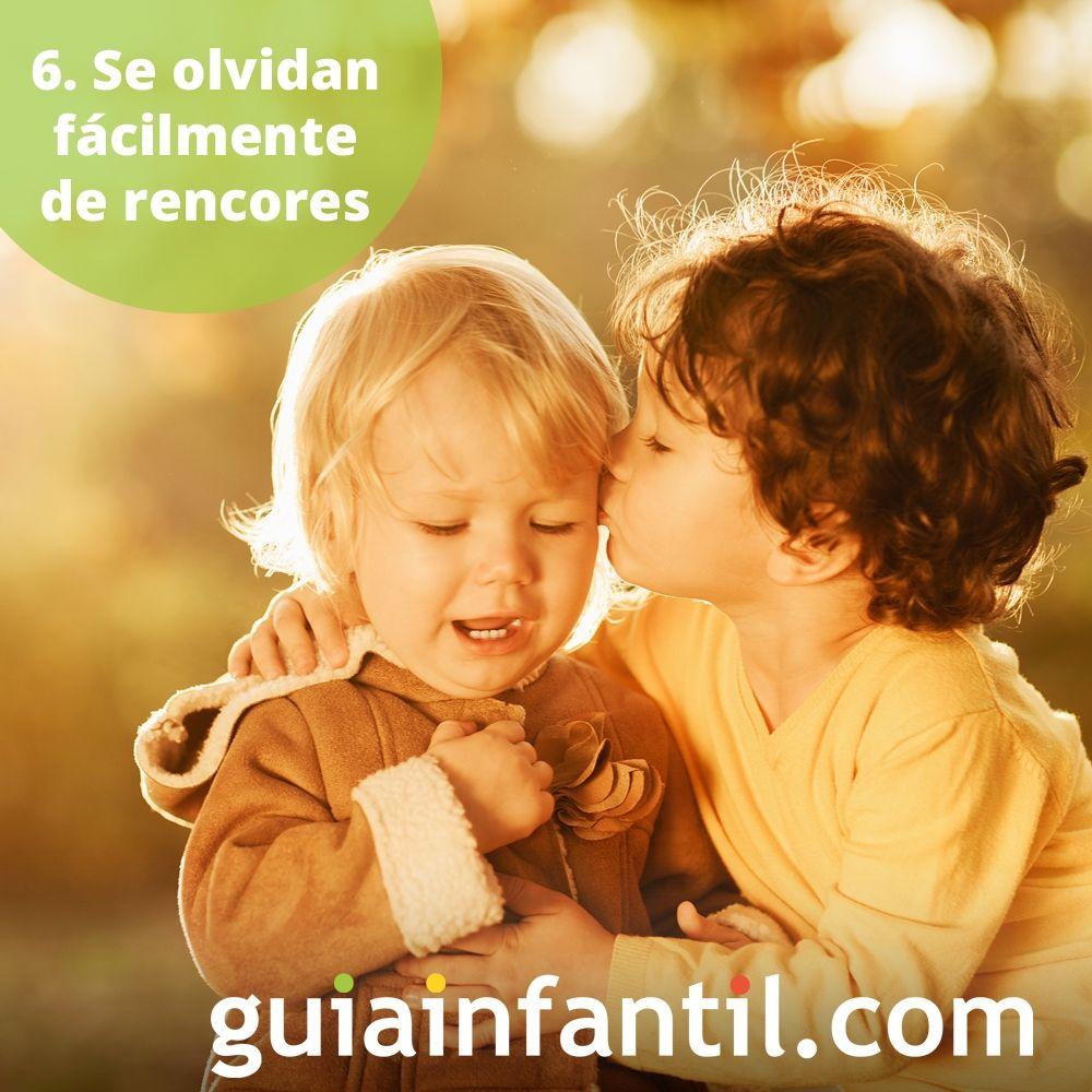 6. Los niños se olvidan fácilmente de rencores y resentimientos