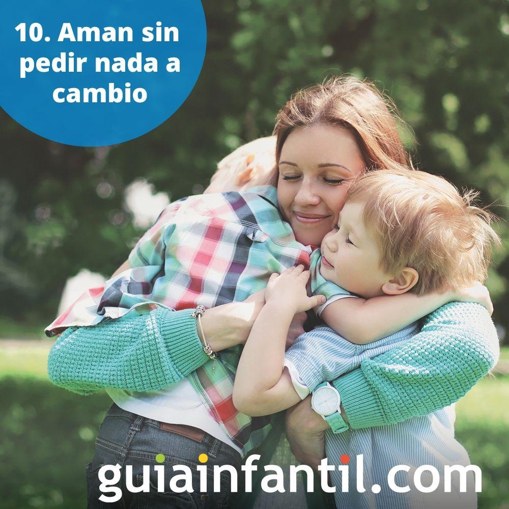 10. Los niños aman sin pedir nada a cambio