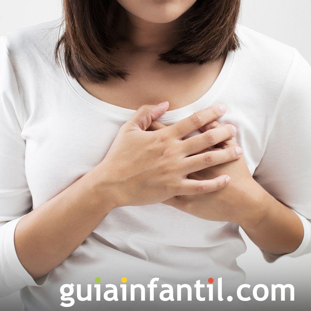 Congestión mamaria. Síntomas del embarazo