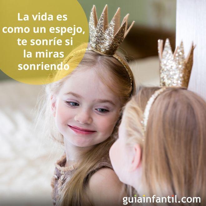La vida es como un espejo te sonr e si la miras sonriendo for Como poner un espejo en la pared
