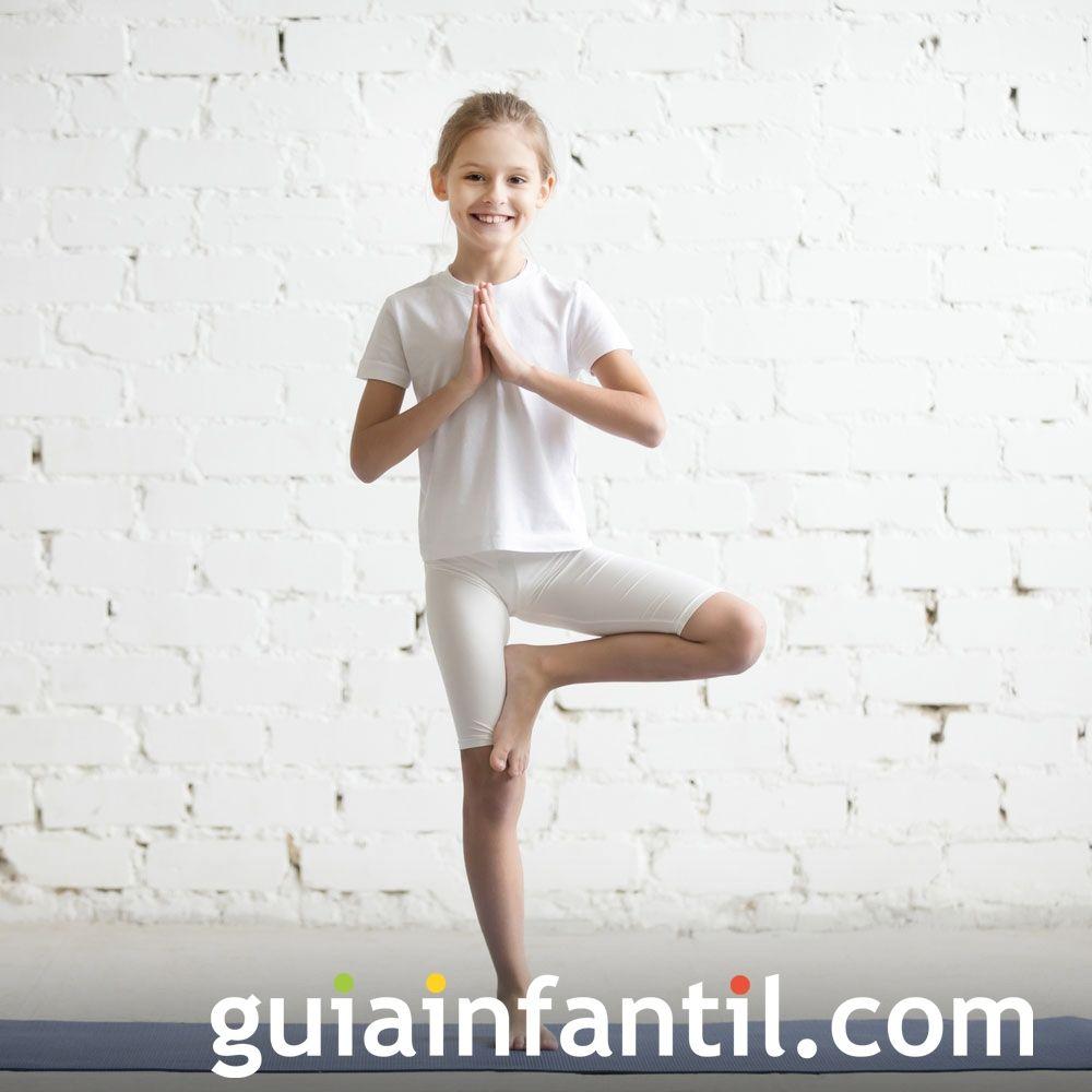 Postura del árbol. Posturas de yoga para niños