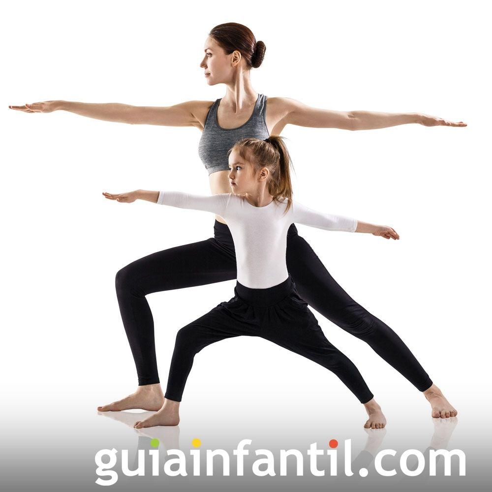 La Posición Del Guerrero Posturas De Yoga Para Niños