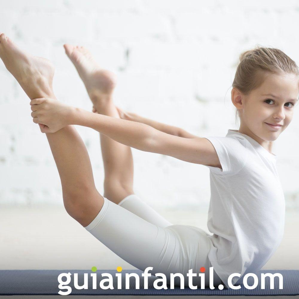 Postura del arco. Posturas de yoga para niños