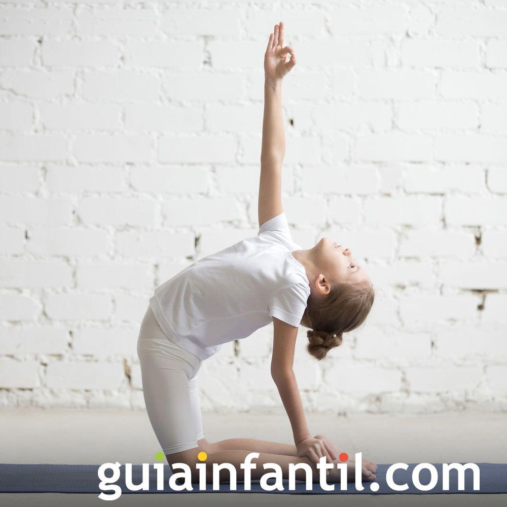 Postura Del Camello Posturas De Yoga Para Niños