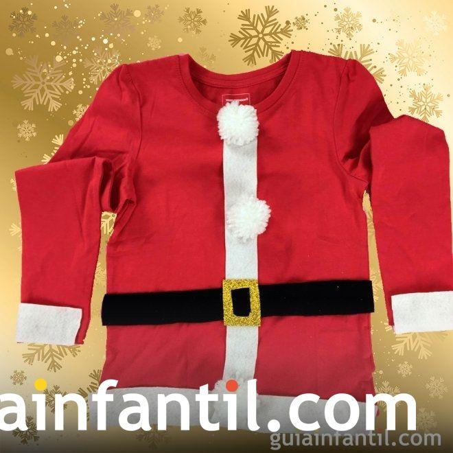 Ideas para complementos caseros de Navidad. Disfraz de Papá Noel