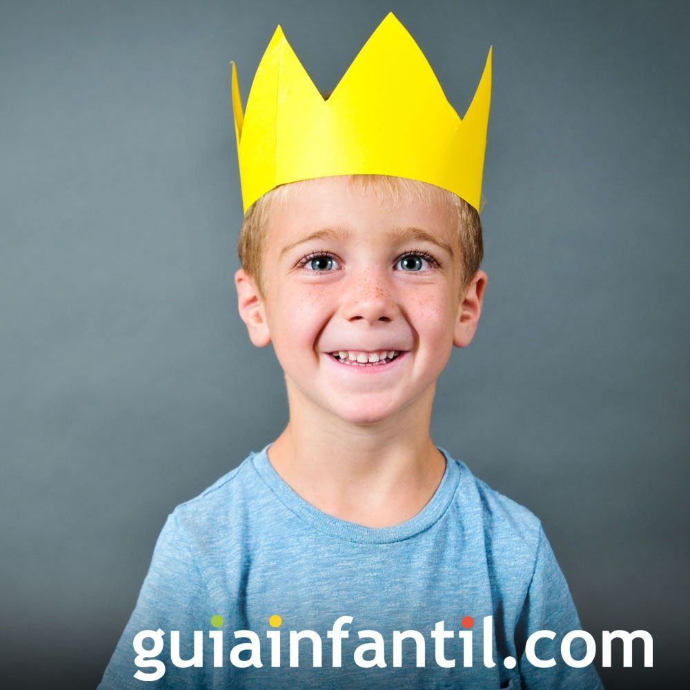Ideas para complementos caseros de Navidad para niños. Corona de Rey Mago