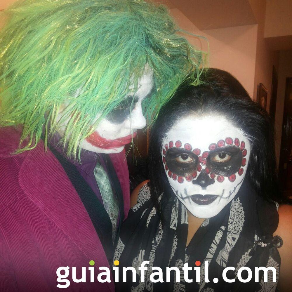 De miedo estos disfraces de Joker y catrina mexicana para niños