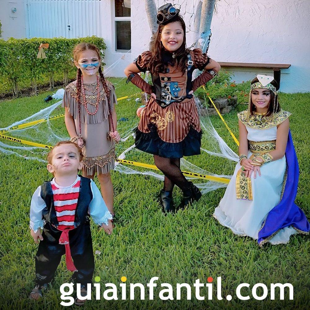 Disfraces de Halloween para toda la familia: Cleopatra, india...