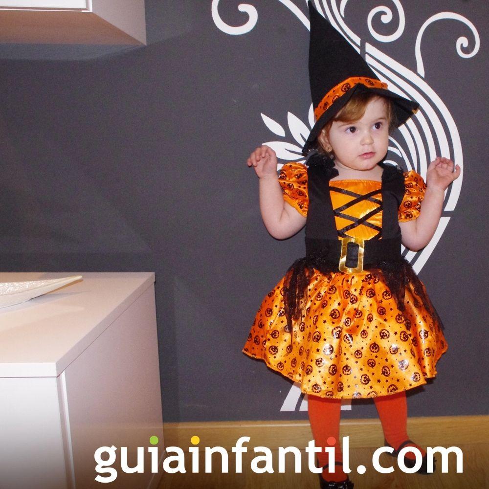 El disfraz de bruja más tierno de Halloween