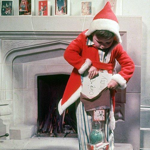 Albornoz o bata navideño