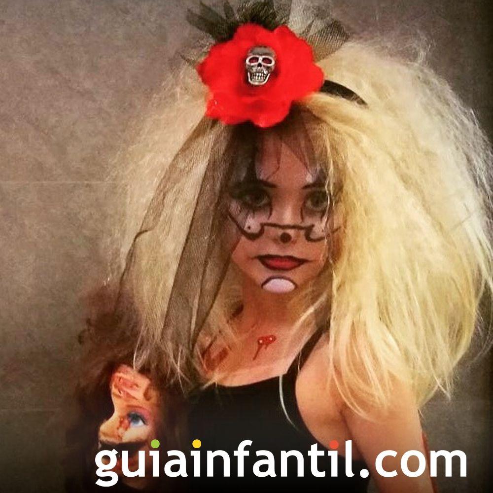 De miedo el disfraz de Aurea para Halloween