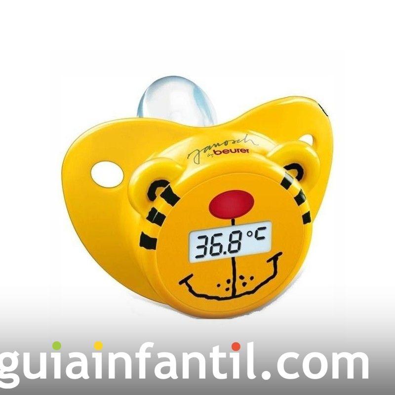 Chupete-termómetro. Perfecto para los bebés rebeldes