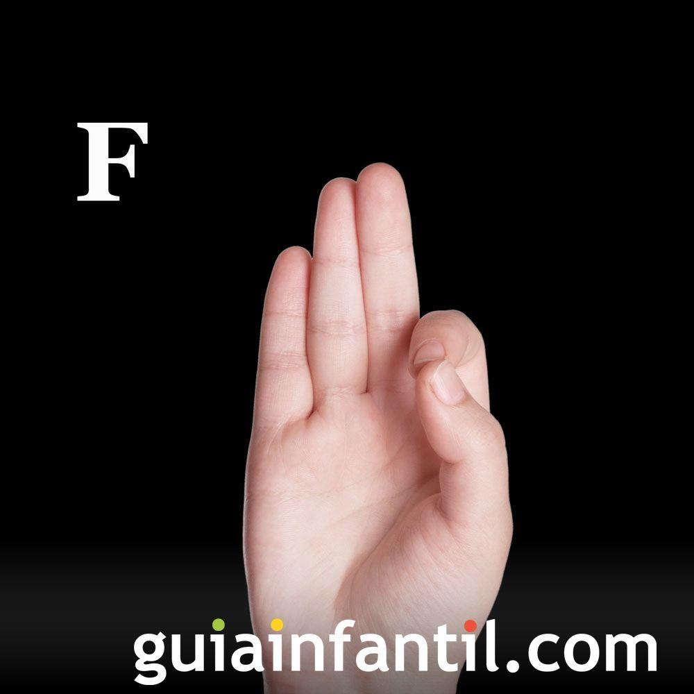 Letra F. Cómo hacer letras con las manos