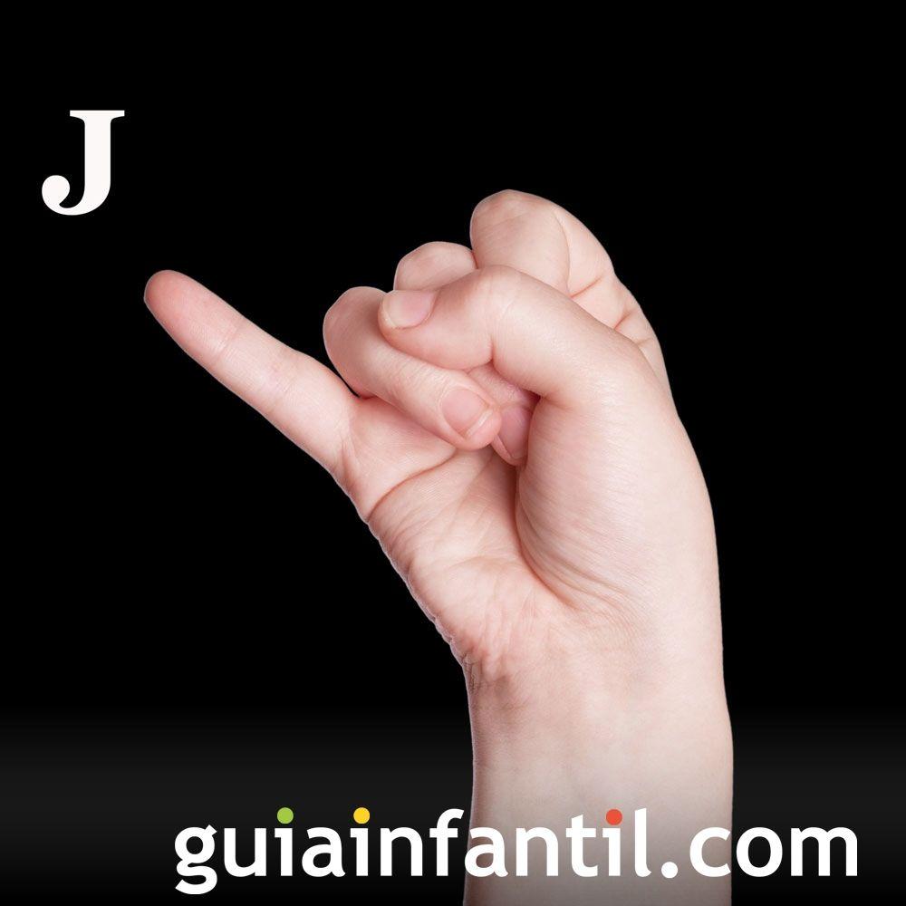 Letra J. El lenguaje de signos para niños