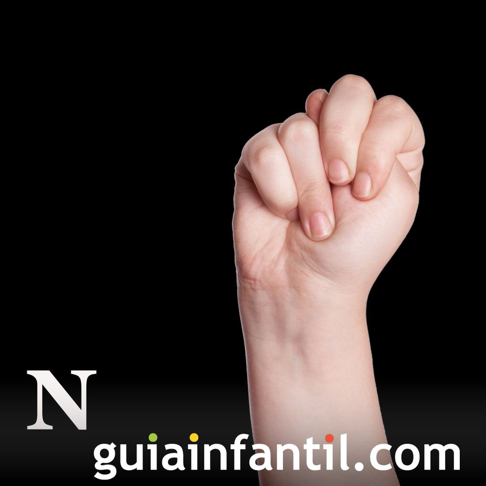 Letra N. Aprende el lenguaje de signos