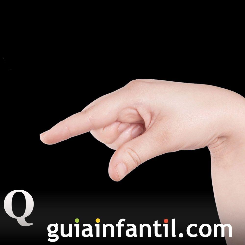 Letra Q. Descubre el lenguaje de signos